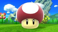Il Fungo avvelenato in Super Smash Bros. for Nintendo 3DS (a sinistra) e in Super Smash Bros. for Wii U (a destra).